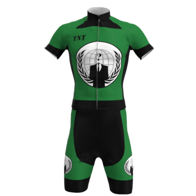 Equipación Corta Bandera Anonymous Mod. 300 TNT Cycling
